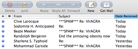 junk mail names